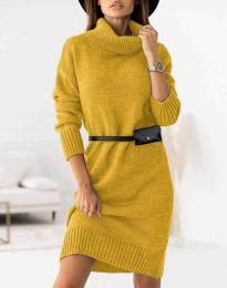 Φόρεμα - κώδ. 0393 - μουσταρδί