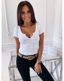 Κοντομάνικο μπλουζάκι - κώδ. 3629 - λευκό