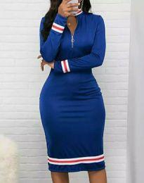 Φόρεμα - κώδ. 3565 - 2 - μπλε
