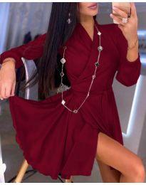 Φόρεμα - κώδ. 2428 - μπορντό