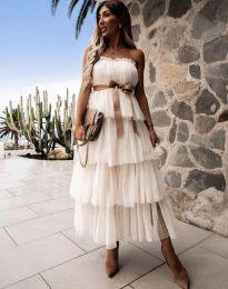 Φόρεμα - κώδ. 1543 - λευκό