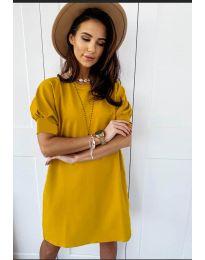 Φόρεμα - κώδ. 9868 - μουσταρδί