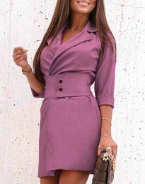 Φόρεμα - κώδ. 1356 - μωβ