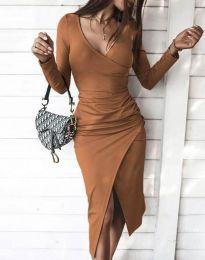 Φόρεμα - κώδ. 4769 - καφέ