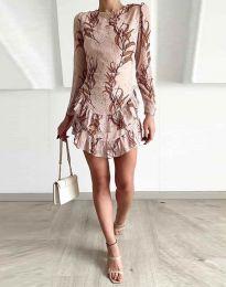 Φόρεμα - κώδ. 3610 - 2 - μπεζ