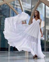 Φόρεμα - κώδ. 6838 - λευκό