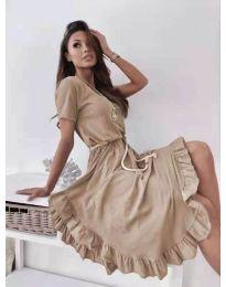 Φόρεμα - κώδ. 11893 - καπουτσίνο