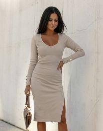 Φόρεμα - κώδ. 12106 - μπεζ