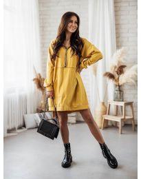 Φόρεμα - κώδ. 6113 - μουσταρδί