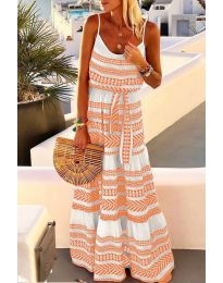 Φόρεμα - κώδ. 621 - πορτοκαλί