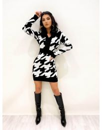 Φόρεμα - κώδ. 9710 - 1 - λευκό