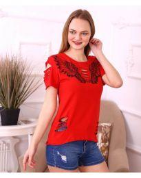 Κοντομάνικο μπλουζάκι - κώδ. 3568 - κόκκινο