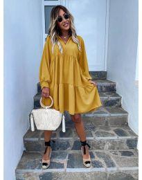 Φόρεμα - κώδ. 6643 - μουσταρδί