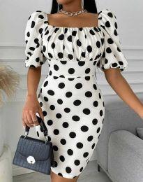 Φόρεμα - κώδ. 3375 - 1 - λευκό