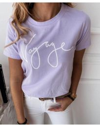 Κοντομάνικο μπλουζάκι - κώδ. 3350 - μωβ