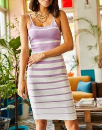 Φόρεμα - κώδ. 0998 - μωβ