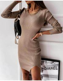 Φόρεμα - κώδ. 4545 - μπεζ