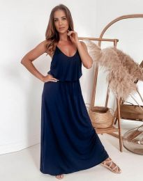 Φόρεμα - κώδ. 11993 - σκούρο μπλε