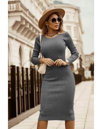 Φόρεμα - κώδ. 8485 - γκρι