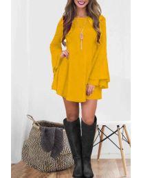 Φόρεμα - κώδ. 8102 - μουσταρδί