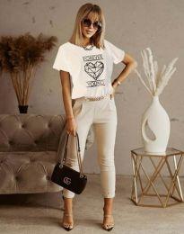Κοντομάνικο μπλουζάκι - κώδ. 1547 - λευκό