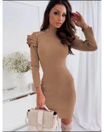 Φόρεμα - κώδ. 2915 - 1 - καφέ