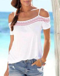 Κοντομάνικο μπλουζάκι - κώδ. 33777 - 2 - πολύχρωμο