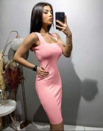 Φόρεμα - κώδ. 10300 - ανοιχτό ροζ