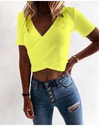 Κοντομάνικο μπλουζάκι - κώδ. 1102 - νέον κίτρινο