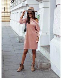Φόρεμα - κώδ. 8171 - ροζ