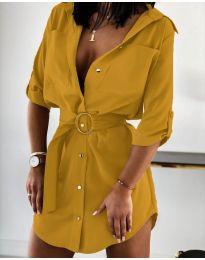 Φόρεμα - κώδ. 976 - μουσταρδί