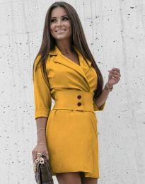 Φόρεμα - κώδ. 1357 - μουσταρδί