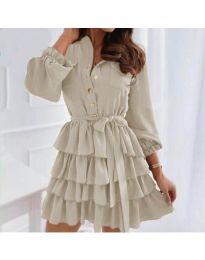 Φόρεμα - κώδ. 7356 - Μπεζ