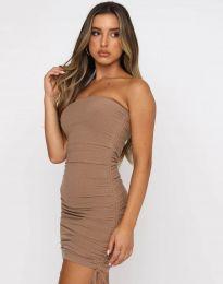 Φόρεμα - κώδ. 11941 - καπουτσίνο