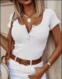 Κοντομάνικο μπλουζάκι - κώδ. 3233 - λευκό