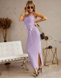Φόρεμα - κώδ. 6166 - ανοιχτό μωβ
