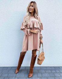 Φόρεμα - κώδ. 6913 - ροζ