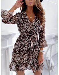 Φόρεμα - κώδ. 7677 - 3 - πολύχρωμο