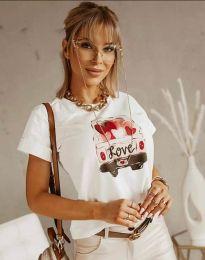 Κοντομάνικο μπλουζάκι - κώδ. 2282 - λευκό