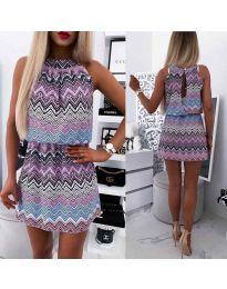 Φόρεμα - κώδ. 3317 - μωβ
