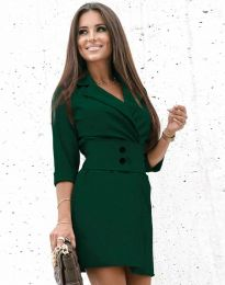 Φόρεμα - κώδ. 1357 - σκούρο πράσινο