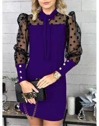 Φόρεμα - κώδ. 1081 - σκούρο μωβ