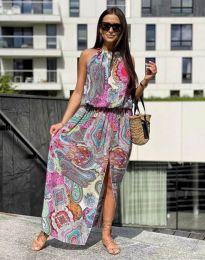 Φόρεμα - κώδ. 2674 - πολύχρωμο