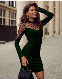 Φόρεμα - κώδ. 2484 - σκούρο πράσινο