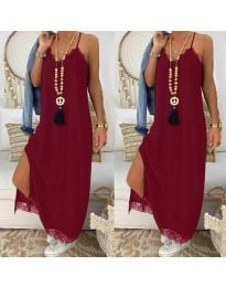Φόρεμα - κώδ. 2575 - 1 - μπορντό