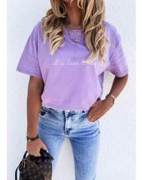 Κοντομάνικο μπλουζάκι - κώδ. 36755 - μωβ