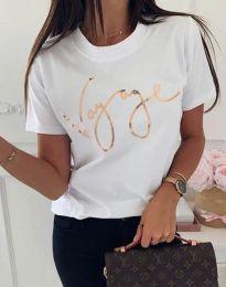 Κοντομάνικο μπλουζάκι - κώδ. 3350 - λευκό