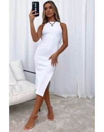 Φόρεμα - κώδ. 11939 - λευκό