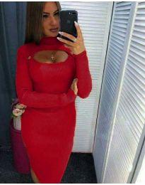 Φόρεμα - κώδ. 2144 - 9 - κόκκινο