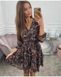 Φόρεμα - κώδ. 4716 - πολύχρωμο